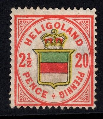 1875-90 HELIGOLAND,SG15 - 20pf rose/green/yellow - Mounted mint - Cat £275.00