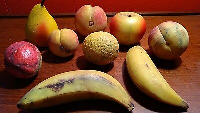 Vintage Alabaster Marble Italian CARVED STONE FRUIT Italy Lot 9 pc Oranges +