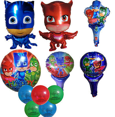 Pj Masks Amaya Owlette Connor Catboy Grey Gekko Balloon Birthday Party Supplies