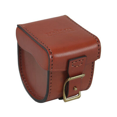 Tourbon Fly Fishing Reels Case Cover Spinning Bag Storage Protective Box Leather
