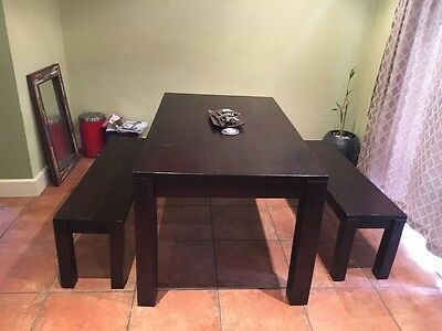 freedom table and bench seats