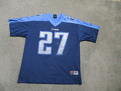 baf7d29a NIKE EDDIE GEORGE Tennessee Titans Football Jersey Youth Large Blue NFL Kids