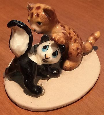 Hagen-Renaker Vintage Cougar Kitten and Skunk, #A3315, only issued one year