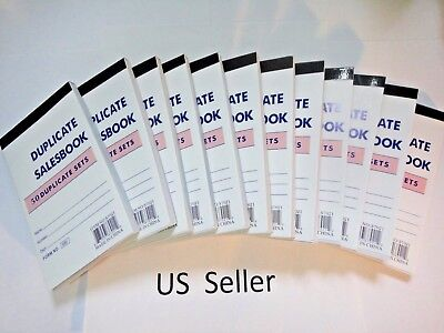 "12 Pcs-Sales Book Order Receipt Invoice Carbon less 50 sets 3.5""x5.5"" US Seller"