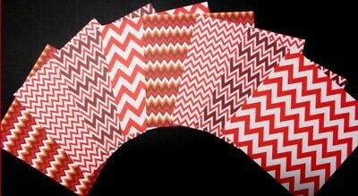 """*COLOURFUL ZIG ZAG* Patterned Papers x 8 -  15cm x 15cm (6"""" X 6"""") Paper Crafts"""