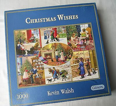 1000 Piece JIGSAW PUZZLE - Gibsons CHRISTMAS WISHES