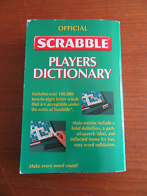 OFFICIAL SCRABBLE PLAYERS DICTIONARY - 3rd EDITION P/BACK