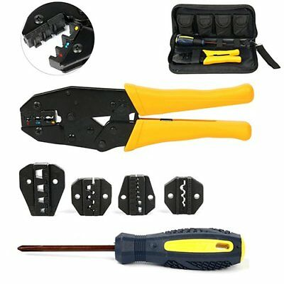 YT Cable Crimper Tool Kit Wire Terminal Ratchet Plier Crimping Set Hand Stripper