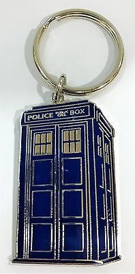 Dr Who Sci Fi British Tv Series Tardis Police Box Keyring Collect #912