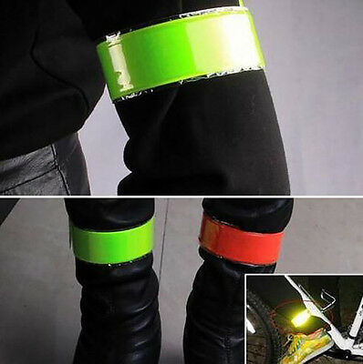 4PCs Reflective Band Outdoor Cycling Safety Fluorescent Arm Leg Strap Armband