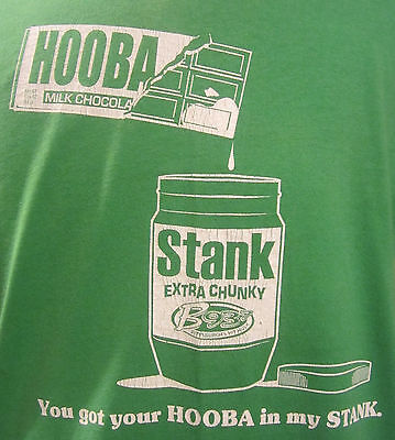 Hoobastank You Got Your Hooba In My Stank Green Tee T Shirt L Large Promotional