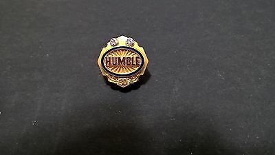 Lovely HUMBLE Oil and Refining 30 year Employee Pin with 2 diamonds Great Shape