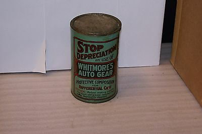 1920s Whitmore Auto Gear Differential Protective Composition Oil Can FULL Rare