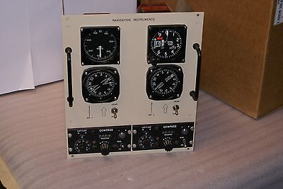 Midway Aircraft Ground Flight Training Navigation Instruments Guage Panel RARE