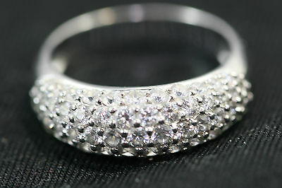 D057 Ring CZ 925 Sterling 4.4g size 8 3/4