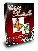 E Book Sale -Enchanting Colorful Butterflies & Tribal Tattoos On Cd