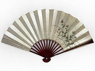 Vintage Japanese Traditional Floral Design 'Sensu' Folding Fan: May IID