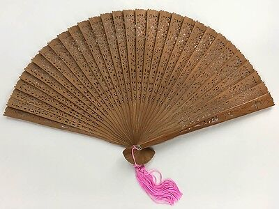 Vintage Japanese Sandalwood 'Sensu' Folding Fan in It's Original Box: MayIIA