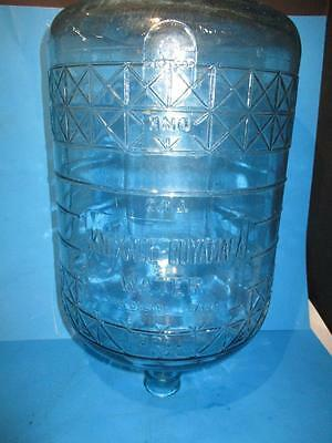 VTG. KNOXAGE CUYAMCA SAN DIEGO CALIF. 5 Gal. Blue Tint Water Glass Bottle Jug