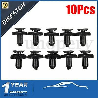 10Pcs 7mm Engine Radiator Trim Cover Clips For Toyota Avensis Corolla-5325920030