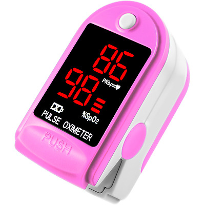 FDA Pulse Oximeter Fingertip CMS50DL / FL400 Blood Oxygen SpO2 Monitor - Pink