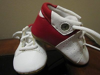 Air Jordan Infant Size 1C White & Red Shoes White Laces