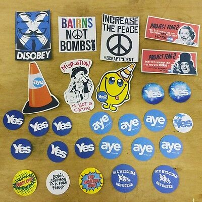 IndyRef_ScotRef_Scottish Independence_Yes stickers_pack of 30_SNP