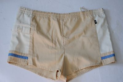 AWESOME PAIR vintage MEN's SWIMSUIT short shorts drawstring JANTZEN 38