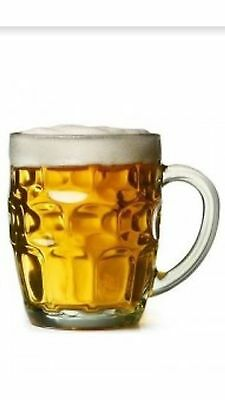 565ml Pint Glasses With Handle