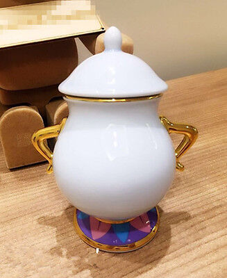 Limited Edition Beauty and The Beast Sugar Bowl Pot Ceramic Cartoon Xmas Gift