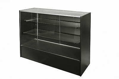Glass Display Counter 1200L- Black