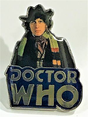 Dr Who Sci Fi British Tv Series Fourth Doctor Blue Logo Pin Collect #917