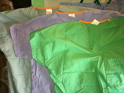 Men's Medline Scrub Top Set (3) Small S New