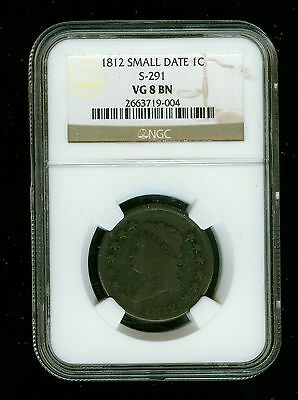1812-P Small Date Classic Head Large Cent 1C NGC VG 8 Brown (BN) S-291