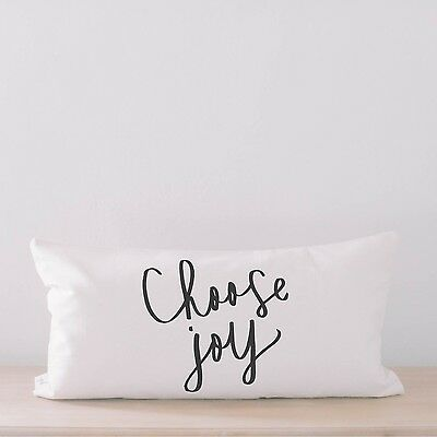 Lumbar Pillow - Choose Joy, home decor, wedding gift, engagement present, housew