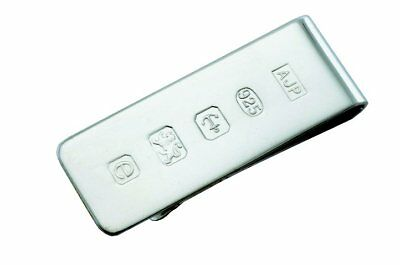 A Solid Silver Money Clip With Feature Hallmark. **sterling Silver Money Clip**