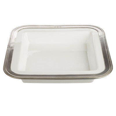 NEW Match Pewter Ceramic Square Serving Tray