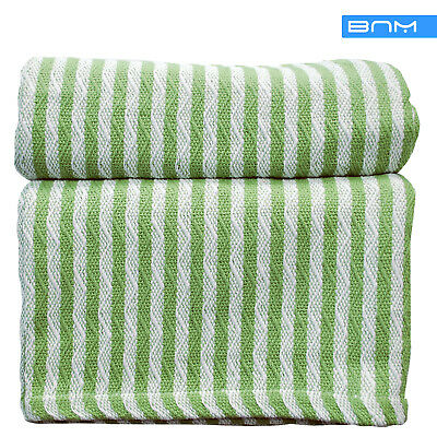 STRIPED TWIN COTTON Throw Blanket Lightweight For Summer White Awesome Lightweight Cotton Throw Blanket