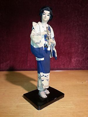 Antique Japanese Samurai Figure Doll Wakashu Soldier Statue