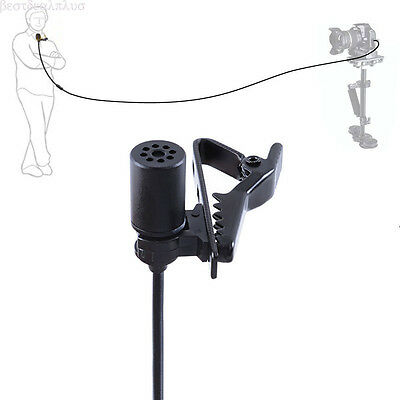 For BOYA BY-M1 Omnidirectional Lavalier Microphone fr Canon Nikon Camcorder CF12