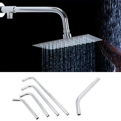 Stainless Steel Shower Head Arm Bracket Thread G1/2 Wall Mounted Tube Rainfall