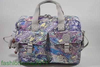 0c36166259 New KIPLING New Baby L Nursery Shoulder Bag with Changing Pad - Marble Multi