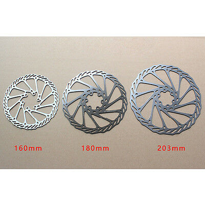 1pcs Stainless Stee Bicycle Bike Brake Disc Rotors 160mm/180mm/203mm w/6x Bolts