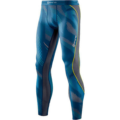 Skins NEW Mx DNAmic Leviathan Atmos Blue Pants Motocross Mens Compression Tights