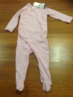 Bonds Baby Newbies Jumpsuit - Pink And White Stripped BNWT - Size 0