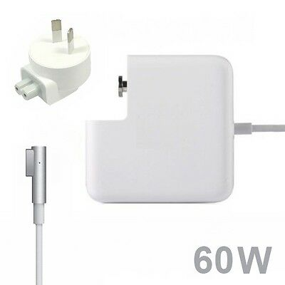 "Power Supply Cord 60W Charger Adapter for Apple MacBook Pro 13"" A1280 L-tip"