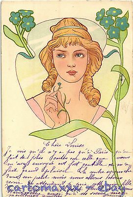 Art Nouveau - Beautiful Woman Belle Femme - L018