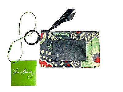 "New With Tag Vera Bradley Zip ID Case Nomadic Floral Pattern ""Free Shipping"""