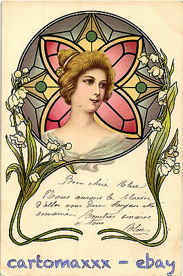 Art Nouveau - Beautiful Woman Belle Femme - L019