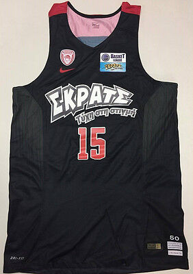 Olympiacos Olympiakos issued Basketball Jersey official PRINTEZIS  #15 L (50)